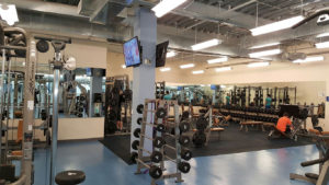 Gym with integrated a/v systems