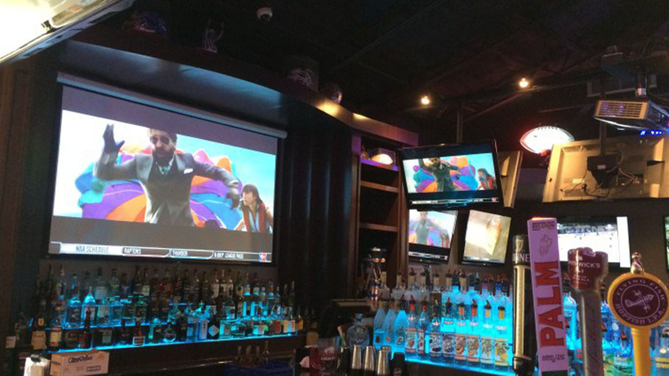 sports bar audio visual