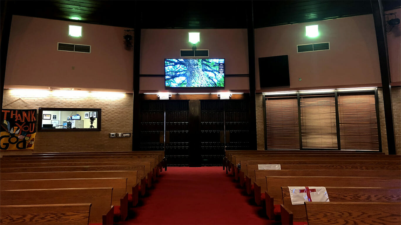 church audio visual for reopening doors